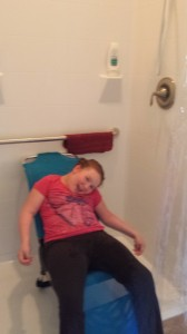 Kathleen loves her new shower 1