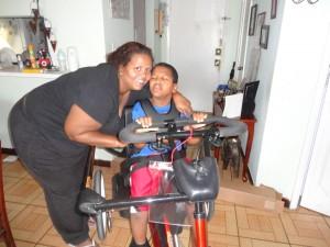 Jean Carlos and mom