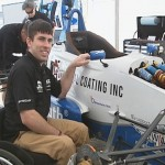 Disable driver breaking ground in Indy Car Racing