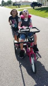 Alyziah on trike