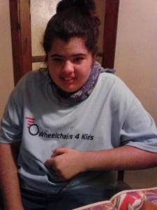 Brandi likes her new shirt!