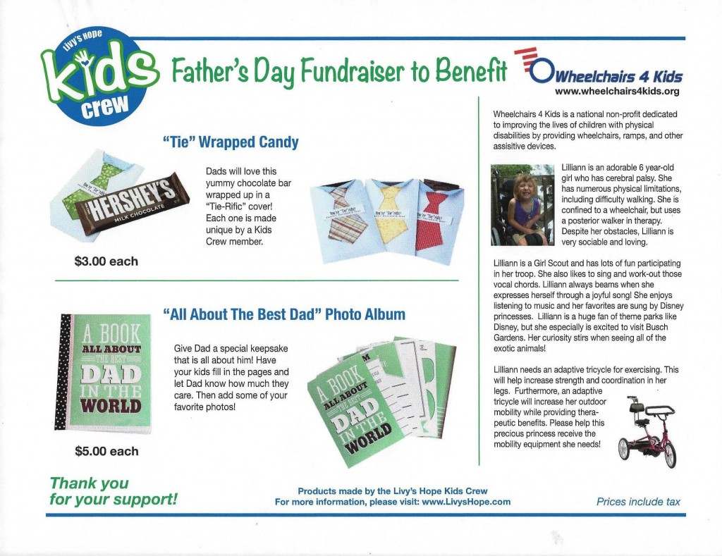 Kids Crew- Father's Day Fundraiser Web