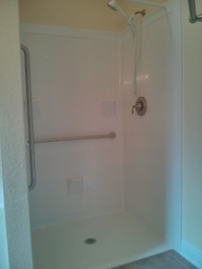 completed shower!
