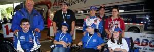 Michael Johnson and Wheel Kids
