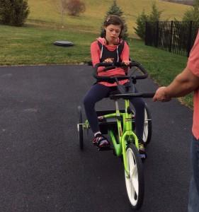 Lili on bike