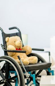Teddy bear in WC